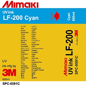 Чернила Mimaki LF-200 UV LED curable ink (Cyan), 600ml