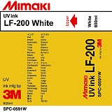 Чернила Mimaki LF-200 UV LED curable ink (White), 600ml
